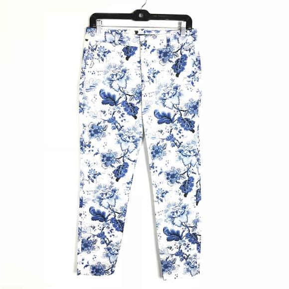 Precio de fábrica 2019 garantía limitada diseño unico Zara Woman floral chino fit skinny ankle pants 2